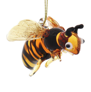 Bumblebee Egyptian Glass Ornament Right Side Front