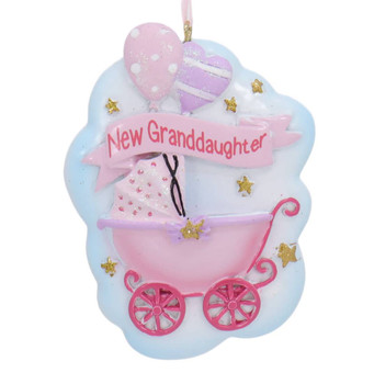 New Granddaughter Baby Stroller Ornament