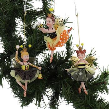3 pc Bumble Bee Dancing Girls Ornaments SET Garland