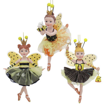 Bumble Bee Dancing Girls Ornament