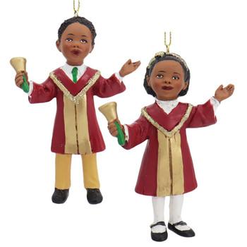 African American Boy or Girl Church Choir Singer Ornament