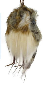 """Speckled Furry Hoot Owl Ornament - small 4 5/8"""", RGMTX53975"""