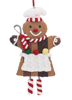 Dangle Legs Baker Cookie Ornament Whisk Front