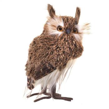 "Soft Brown Yarn, Feathers Brown Owl Figurine - med, 7"", RGMTX61580"