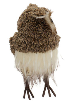 Soft Brown Yarn, Feathers Brown Owl Figurine - large Front Side