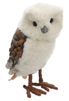 Pinecone, Yarn Fluff, Blanket Owl Figurine