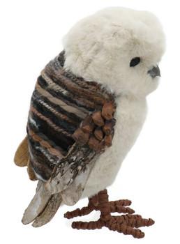 Pinecone, Yarn Fluff, Blanket Owl Figurine right side