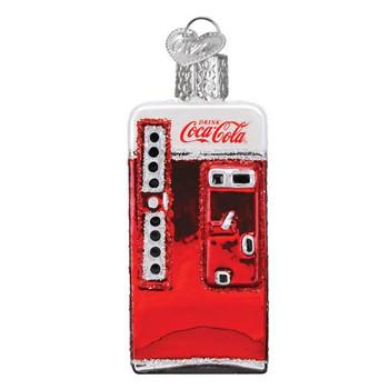 Mini Coca-Cola Brand Retro Glass Ornaments Set soda machine
