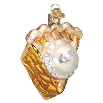 Apple Pie A La Mode Glass Ornament
