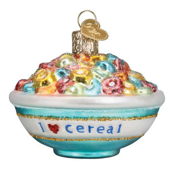 Fruity Bowl of Cereal Glass Ornament