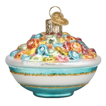 Fruity Bowl of Cereal Glass Ornament side