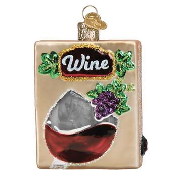 Boxed Wine Glass Ornament