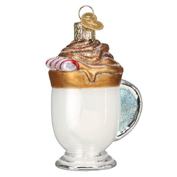 Whipped Coffee Glass Ornament