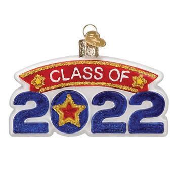 Class Of 2022 Glass Ornament