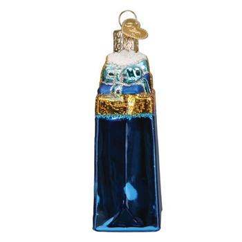 Happy Hanukkah Glass Ornament side