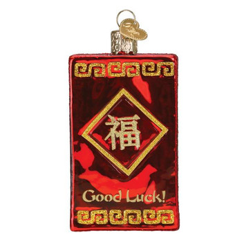 Lucky Red Envelope Glass Ornament