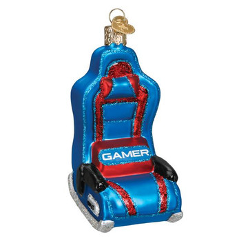 Gaming Chair Glass Ornament