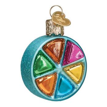 Hasbro Game Trivial Pursuit Glass Ornament