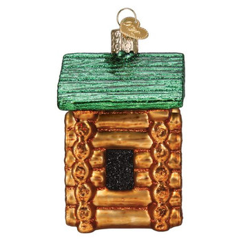 Hasbro Game Lincoln Logs Glass Ornament side