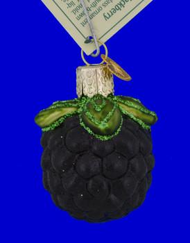 "Blackberry Fruit Glass Ornament, 2"", OWC # 28113x"