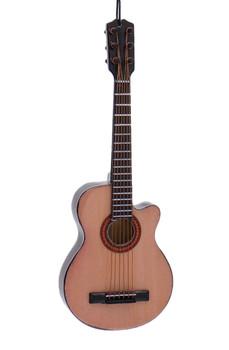 Mini Acoustic Plain Cutaway Guitar Ornament, Wood