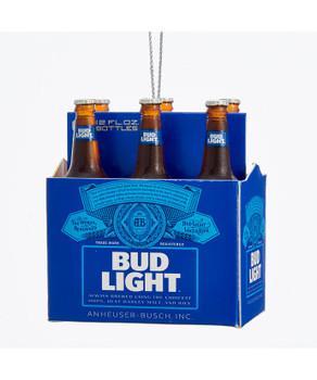 6 Pack of Budweiser Bud Light Beer Bottles Ornament