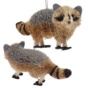 Set of 5 Fun Woodland Buri Animals Ornaments Raccoon Front Back