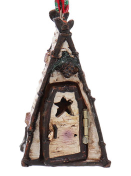 Man, Moose or Bear Woodland Outhouse Ornament Bear Front