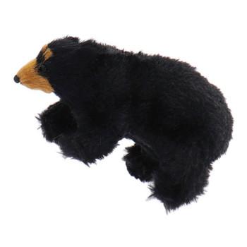 Furry Walking Black Bear Ornament