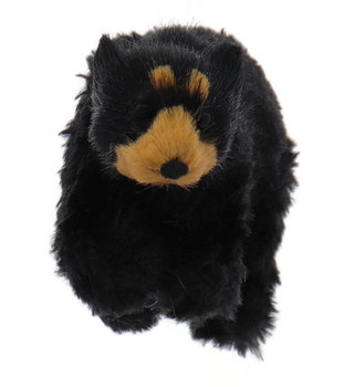 Furry Walking Black Bear Ornament Front