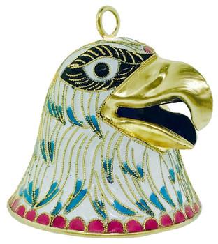 "Cloisonne Bald Eagle Bell Ornament,  2 1/2"", KU16172"