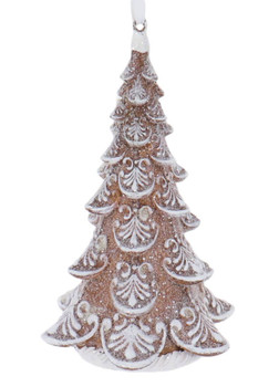 """3-D Old Fashioned Frosty Gingerbread Tree Ornament 5 3/8"""", RGMTX66277"""