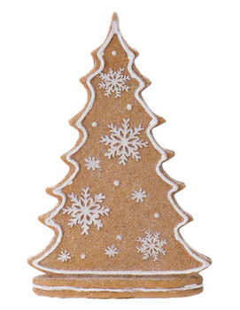 """Sparkly 2-Sided Old Fashioned Gingerbread Tree Figurine, 7 1/2"""", RGMTX66207"""