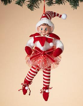 "Overstuffed Female Elf Dancer Ornament, Shelf Sitter Decor, 10 1/2 - 15"", ST2616490"