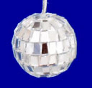 Mini Mirrored Disco Ball Ornaments 12 pc Set 1.25 inch inset
