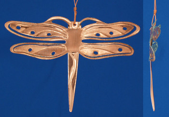 Verdigris Copper Dragonfly Ornament in USA inset