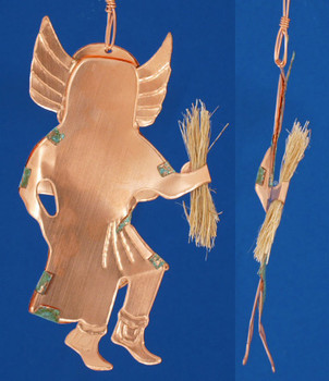 Copper Crow Mother Southwestern Kachina Ornament inset