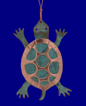 Copper Box Turtle Ornament