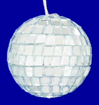 Mirrored Disco Ball Ornaments 2 inch 12 pc set inset