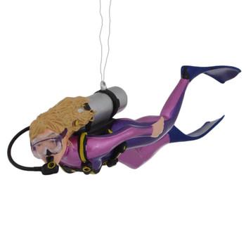 Female Scuba Diver Ornament left side