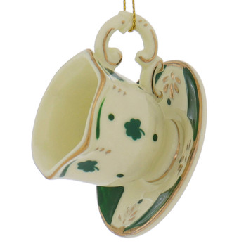 Irish Teacup, Teapot Ornaments style a left side