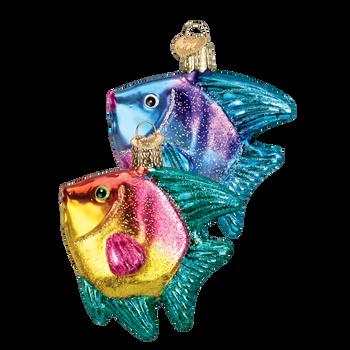 Tropical Angel Fish Glass Ornament