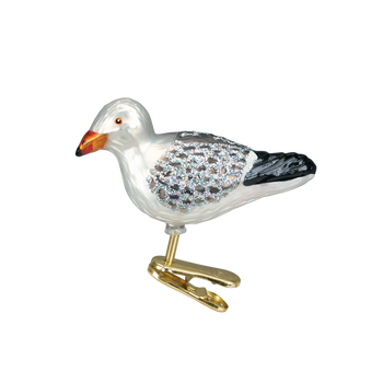 Seagull Clip-On Glass Ornament