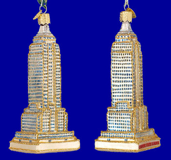 Empire State Building Old World Christmas Glass Ornament 20059 inset