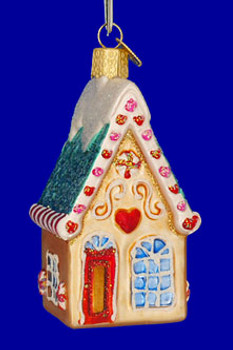 Cookie Cottage House Old World Christmas Glass Ornament 20064