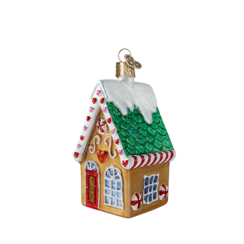 Cookie Cottage House Glass Ornament