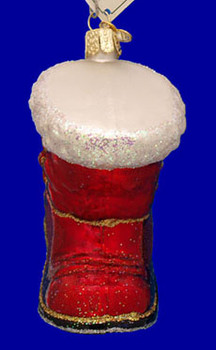 Santas Boot Old World Christmas Glass Ornament 32060 inset
