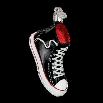 High Top Sneaker Glass Ornament