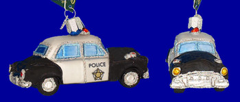 Police Car Old World Christmas Glass Ornament 46044 inset