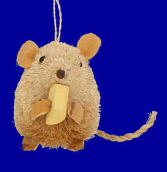 Buri Animal Mouse Ornament Brown by KSA inset